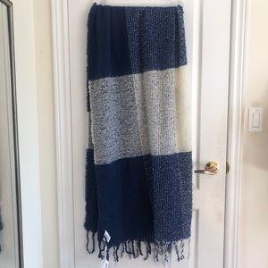 Etereo Plaid Fringed Blanket Scarf - BNWT